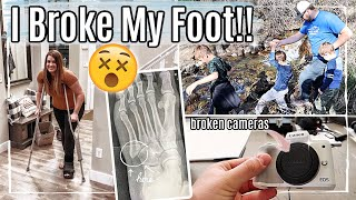 😵 I BROKE MY FOOT + 2 CAMERAS :: SPEND THE DAY #WITHUS 2020 :: FAMILY MOUNTAIN HIKE VLOG