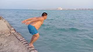 At Al Ghariyah Beach in Qatar