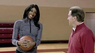 Nick Saban plays basketball with Maria Taylor | Maria Taylor