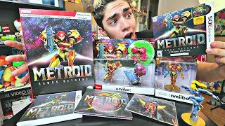 ULTIMATE Metroid: Samus Returns UNBOXING! [COLLECTOR'S EDITION, NEW AMIIBO, GUIDEBOOK, KEYCHAIN]
