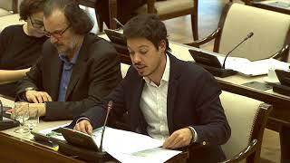 Segundo González en la Comisión de Presupuestos el 22 de Noviembre