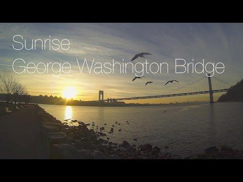 Sunrise New York - George Washington Bridge GoPro (4K Cin) with Relaxing Music