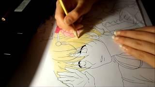 Kagamine Rin and Len - Speeddrawing