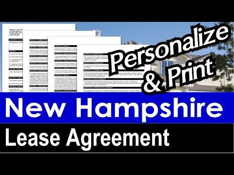 New Hampshire Lease Agreement for Rental Property