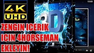 KODI`DE 4K, 3D ICERIK ARAYANLAR ICIN IDEAL BIR EKLENTI: 4HORSEMAN
