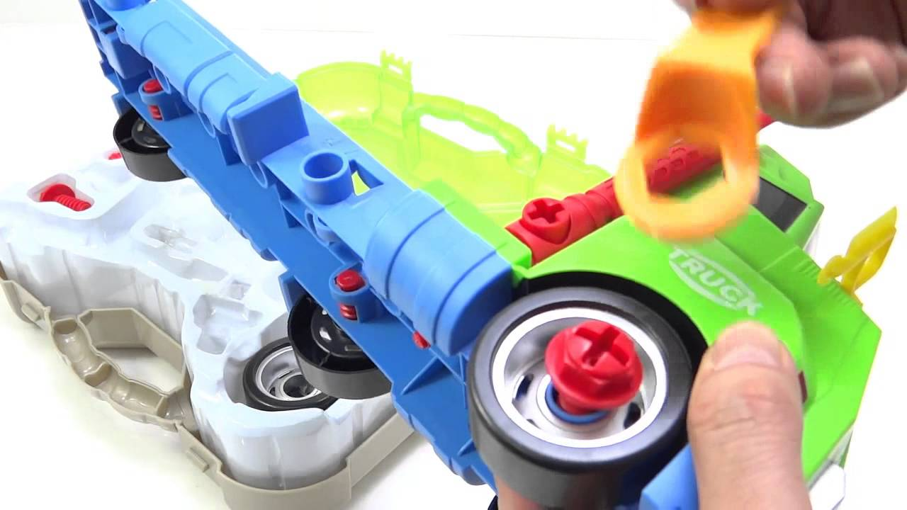 construction truck musical toy for kids buildable with tools and
