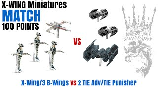 Match: Vader/Stele/Deathrain vs Biggs/3 Blue Squadron BWings - X-Wing Miniatures - SPG