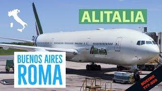 Alitalia Buenos Aires Roma - Boeing 777 - Premium Economy