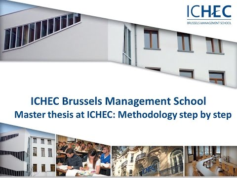 Master thesis at ICHEC : Methodology step by step