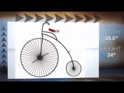 Old Century Bicycle Three-Dimensional Wall Art - YouTube
