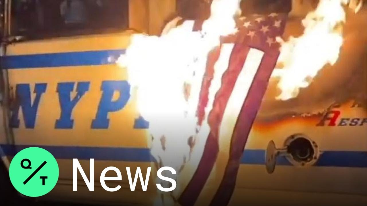 George Floyd Protests: Blue Lives Matter Flag Set on Fire in Brooklyn