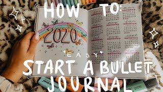 *EASY* HOW TO START A BULLET JOURNAL FOR BEGINNERS! MY SET UP FOR 2020 + TIPS & SUPPLIES I USE!