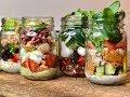 MASON JAR SALADS - Meal Prep for on the go