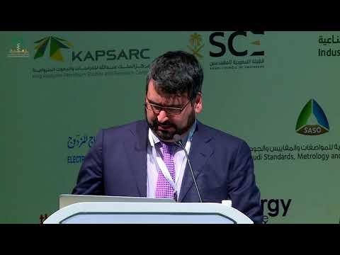 Dr. Ramteen Sioshansi speaking at the Saudi Electricity Forum 2017