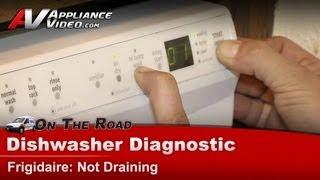 Dishwasher Diagnostic & Repair - Not draining -Frigidaire,Electrolux-  LGBD2432LW0A