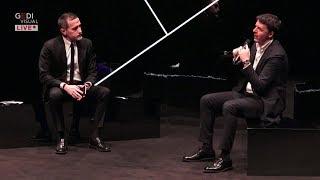 Matteo Renzi a Radio Capital con Massimo Giannini, dal teatro Parenti di Milano.