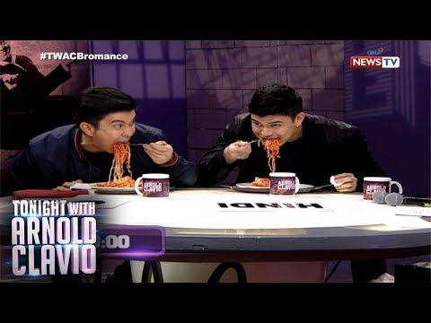 Tonight with Arnold Clavio: Rayver at Rodjun Cruz, sumabak sa 'Spaghetti Eating Challenge!'