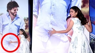 Alia Bhatt Grabs Shahrukh Khan's Private Part In Public At Dear Zindagi Movie Promotions?