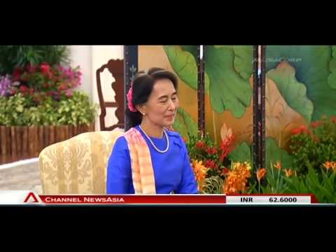 Aung San Suu Kyi Meets Singapore Leaders - 23Sep2013
