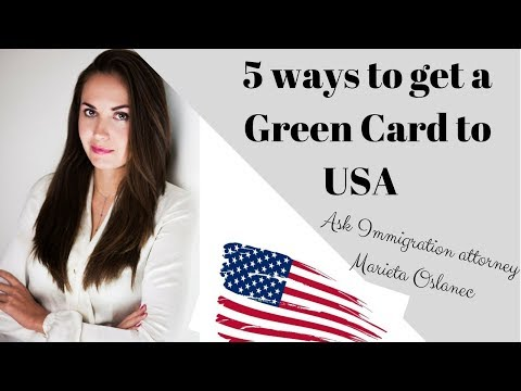 5 ways to get a green card to the US🇺🇸🔥