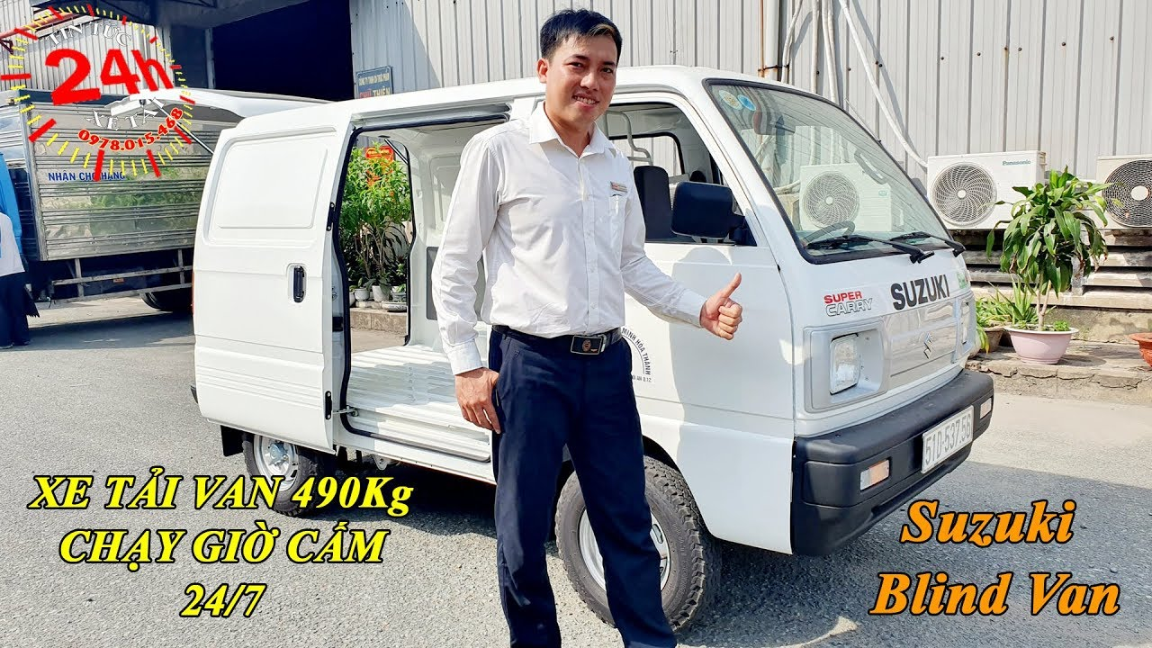 Xe Tải Suzuki Blind Van 490kg Chạy Giờ Cao Điểm | Xe Bán Tải Suzuki Dưới 500kg Chạy Giờ Cấm 24/7