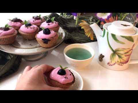 "YouTube video ""Vegan blueberry muffins"" (Gluten-free is possible) / ""ヴィーガン ブルーベリーマフィン (グルテンフリー可)"