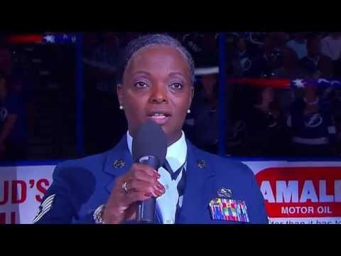 Beautiful U.S National Anthem by Sonya Bryson (tampa bay vs habs - May 6th)