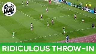 Ridiculous Throw-in to Nobody! - José San Román (Huracán) vs. River Plate