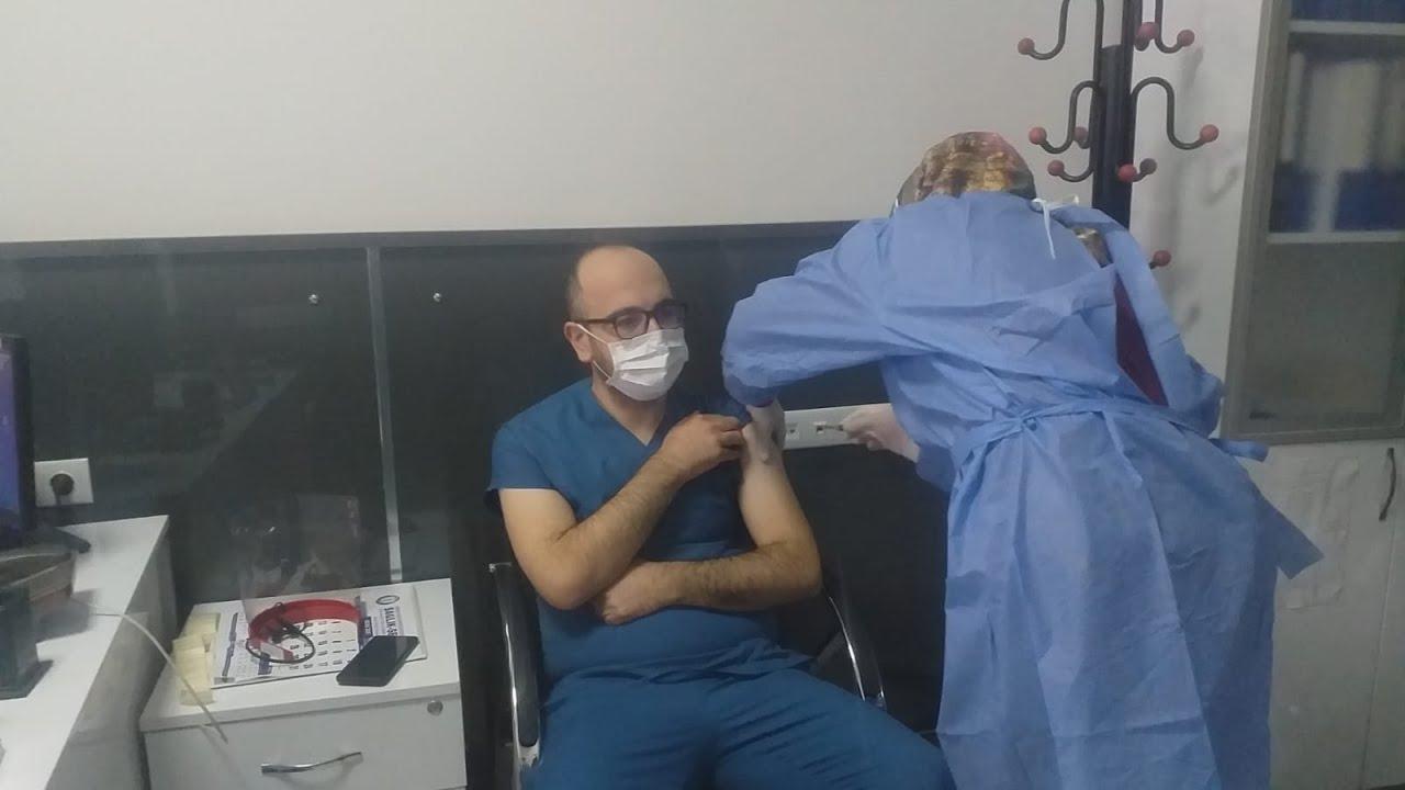Gölbaşı İlçe Sağlık Müdürü Çağlar korona aşısı oldu