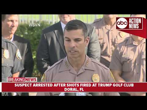 Shots fired at Trump golf club, suspect arrested | Press Conference (5.18 9AM)