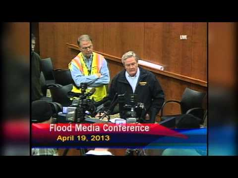 City Of Fargo Flood Meeting Press Conference - April 19, 2013