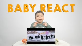 Qahtan Sampai Pipis di Salju! | Baby React to Gen Halilintar Ziggy Zagga Music Video