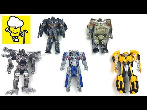 Transformers Movie 5 The Last Knight Toys Easy One Step Changers With Optimus Prime Bumblebee
