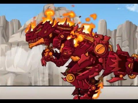 Dino Robot Fire Tyrannosaurus (Роботы Динозавры: Огненный тираннозавр)
