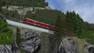 MSTS (Open Rails) - RhB Bernina Bahn (Swiss Alps)