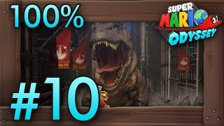 Super Mario Odyssey 100% Walkthrough Part 10 | Metro Kingdom #2 (All Moons & Coins) Switch Gameplay