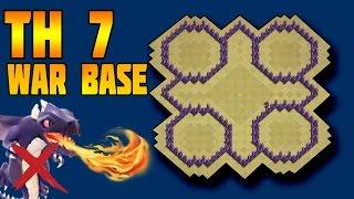 TH 7 War Base 2016 | Clash of Clans Th7 War Base | CoC Th7 War Base | Clash of Clans TH 7 Defence