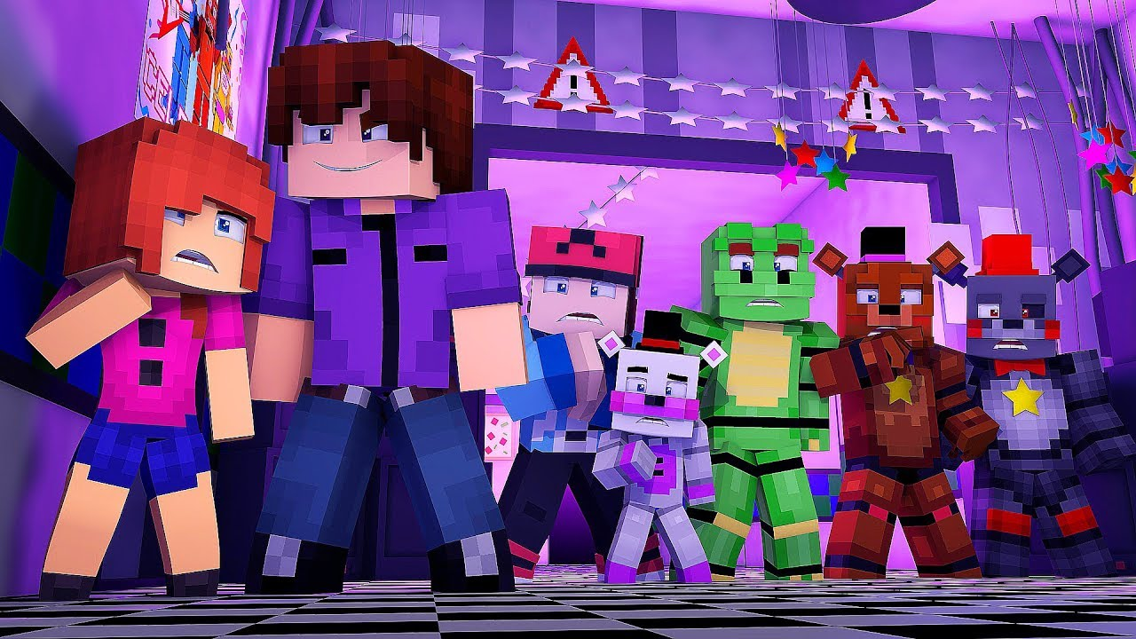 Minecraft FNAF 6 Pizzeria Simulator - PURPLE GUY IS HERE?! (Minecraft  Roleplay)