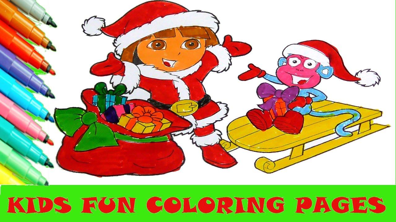 Art color book - Dora Cartoon Coloring Page Kids Fun Art Color Activity Color Book