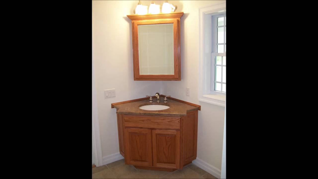 Wooden Table With Washbasin Placed Under Mirror In ...