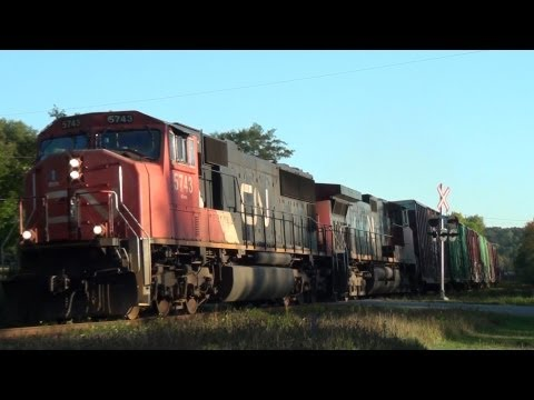 Thumbnail: CN Train Hits Deer 09-28-2011