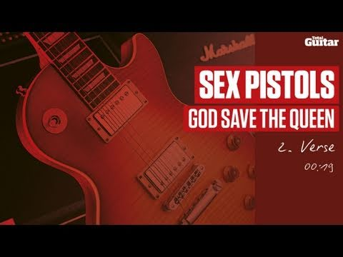 Guitar Lesson: Sex Pistols 'God Save The Queen' -- Part Two -- Verse (TG214)