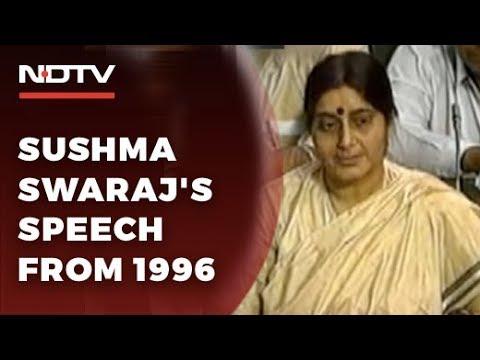 watch:-sushma-swaraj's-fiery-speech-from-1996