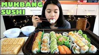 MUKBANG 48 SUSHI + ICE CREAM || MUKBANG INDONESIA
