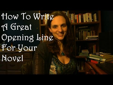 How to Write a Great Opening Line for Your Novel #withcaptions