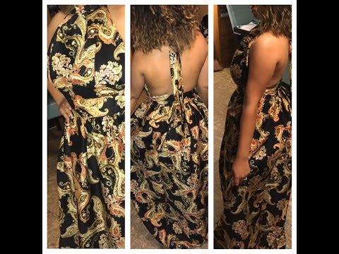DIY African inspired print Maxi dress