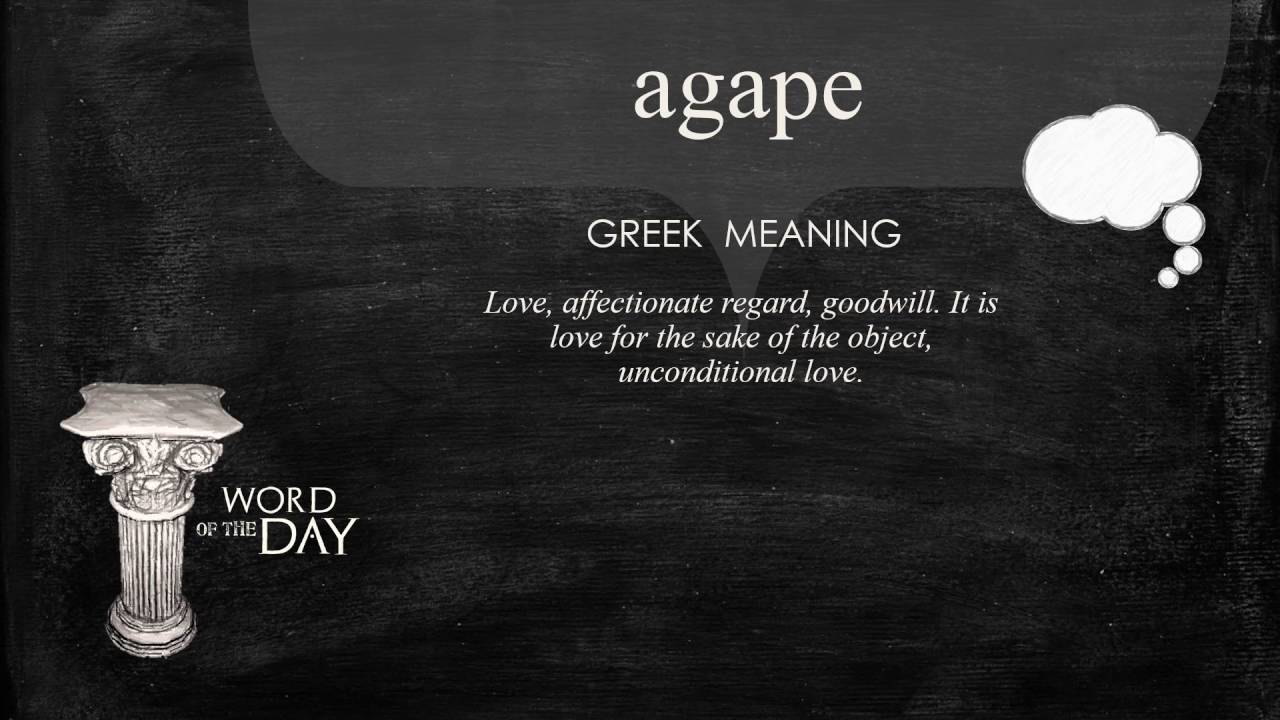 Greek meaning for love