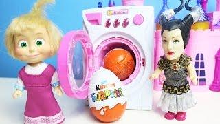 Küçük Cadı Maşa'nın Sürpriz Yumurtalarını Oyuncak Çamaşır Makinesine Saklıyor