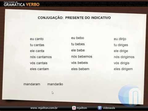 Presente Do Indicativo - Verbo #08