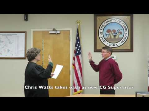 Chris Watts takes oath as new CG Supervisor